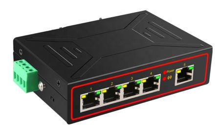 S02 5 Port Ethernet 10/100MB RJ45 Unmanaged Switch